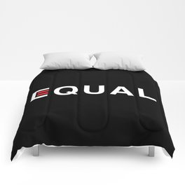 Equal - White on Black Comforters