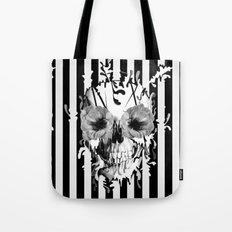 Limbo, Skull with poppy eyes Tote Bag