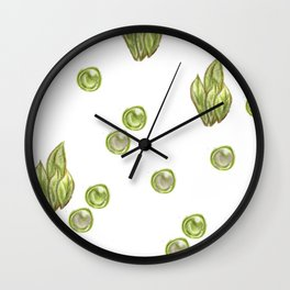 green bushes and bubbles Wall Clock
