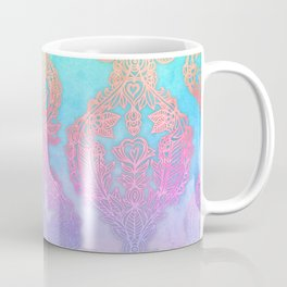 The Ups and Downs of Rainbow Doodles Coffee Mug