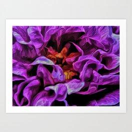 Painted Petals Abstract Art Print