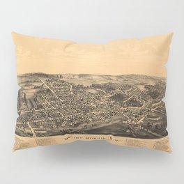 Aerial View of Mount Morris, New York (1893) Pillow Sham