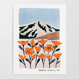 Marin County Print Poster