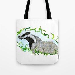 European Badger Watercolor Tote Bag