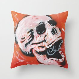 Gunga Skull 01 Throw Pillow