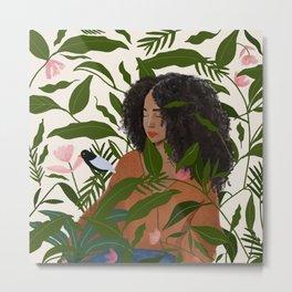 Aanu the plant lady  Metal Print