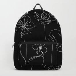 Botanical illustration drawing - Botanicals Black Backpack