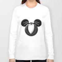 jack skellington Long Sleeve T-shirts featuring Jack Skellington Mouse by Miranda Copeland