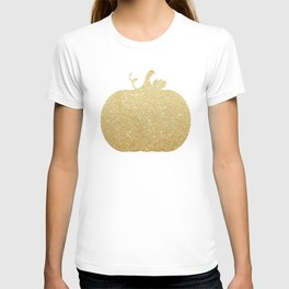 Gold Glitter Pumpkin T-shirt