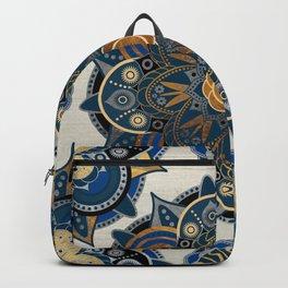 Mandala Blue and Gold Backpack