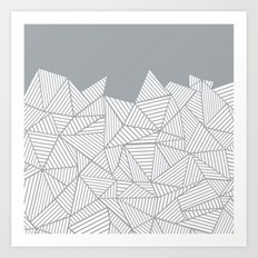 Abstract Mountain Grey Art Print