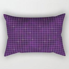 Purple retrowave grid Rectangular Pillow