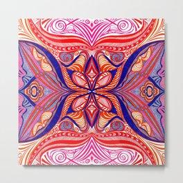Sherbet Shells 1 Symmetrical design Metal Print