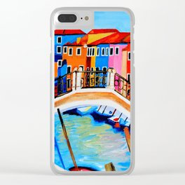 Colors of Venice Italy Clear iPhone Case