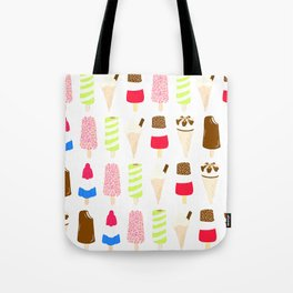 Classic Summer Ice-Creams Tote Bag