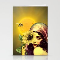 sunflower Stationery Cards featuring SUNFLOWER by Julia Lillard Art