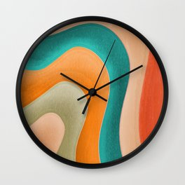 Abstract Pastel Pattern Wall Clock
