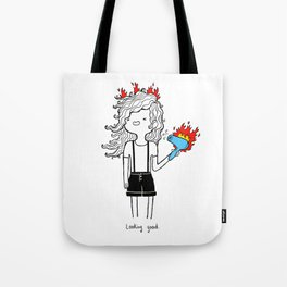 On Fire by Sarah Pinc Tote Bag