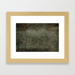 The Binary Code - Distressed textured version Framed Art Print