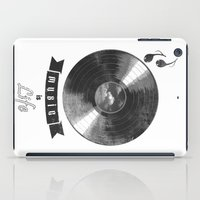 onesie iPad Cases featuring music is ...life  (vintage version) by mauro mondin
