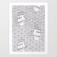 ships Art Prints featuring Ships by hellotomato