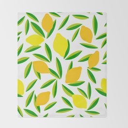 Pop Lemon & green Pattern #summervibes Throw Blanket