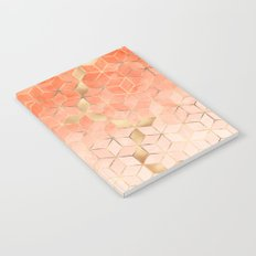 Soft Peach Gradient Cubes Notebook