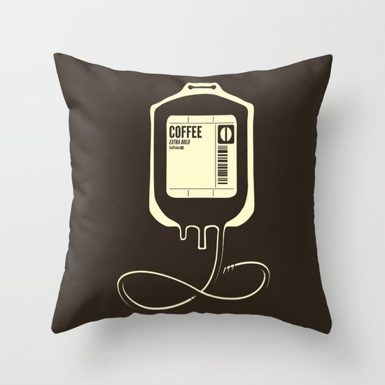 Coffee Transfusion Throw Pillow