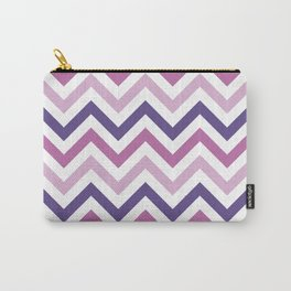 Chevron Pattern in Ultra Violet, Pink Lavender and Spring Crocus Carry-All Pouch