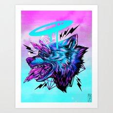 Crystal Wolf Art Print