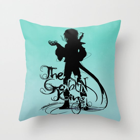 The Goblin King Throw Pillow