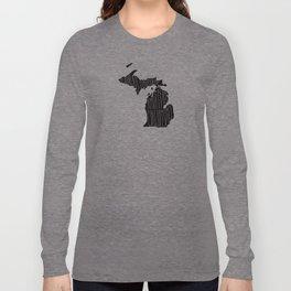 Michigan Motto - Black Long Sleeve T-shirt