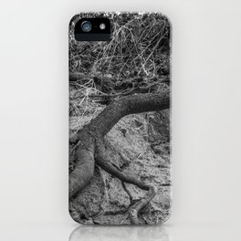 Roots from black iPhone Case