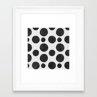 polka Framed Art Prints featuring polka by spinL