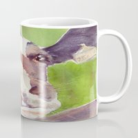 cow Mugs featuring cow by Michele Petri