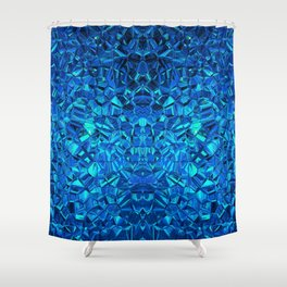 Blue Kryptonite Shower Curtain