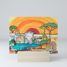 African Safari Mini Art Print