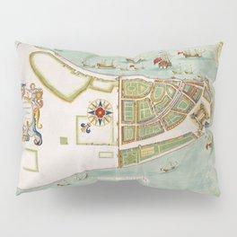 Historical Map of New York City (1664) Pillow Sham