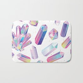 Purple Crystals Bath Mat