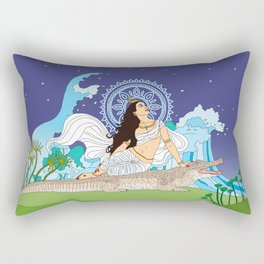 Ganga of the Himalayas Rectangular Pillow