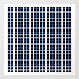 The checkered pattern . Art Print