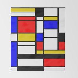 Art work inspired to P. Mondrian (n.1) Throw Blanket