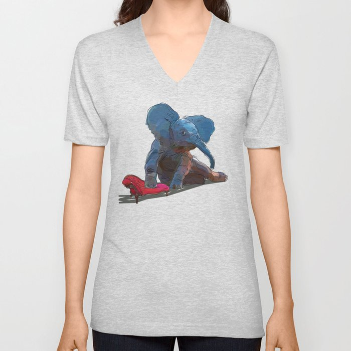animals in chairs #25 The Elephant Unisex V-Neck