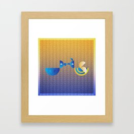 Music in Monogeometry : Bird and the Bee Framed Art Print