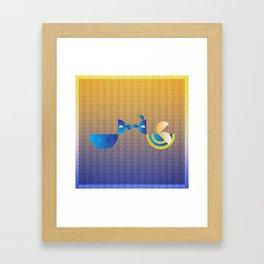 Music in Monogeometry : Bird and the Bee Framed Art Print