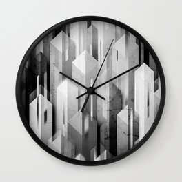 obelisk posture (monochrome series) Wall Clock