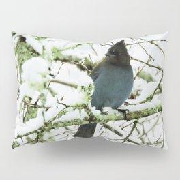 Steller's Jay in the Snow Pillow Sham