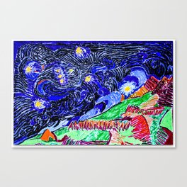 Orion on Aconcagua / Starry night Canvas Print
