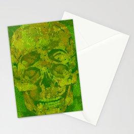 4 eyes skull camouflage woodland green Stationery Cards