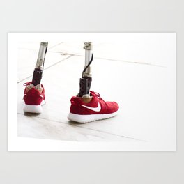 Red Shoe Prosthetic Art Print